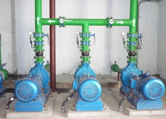 连成离心泵预埋件安装
